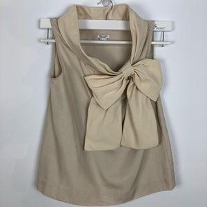 ♠️Kate Spade Silk Blouse Side Bow Embellished S